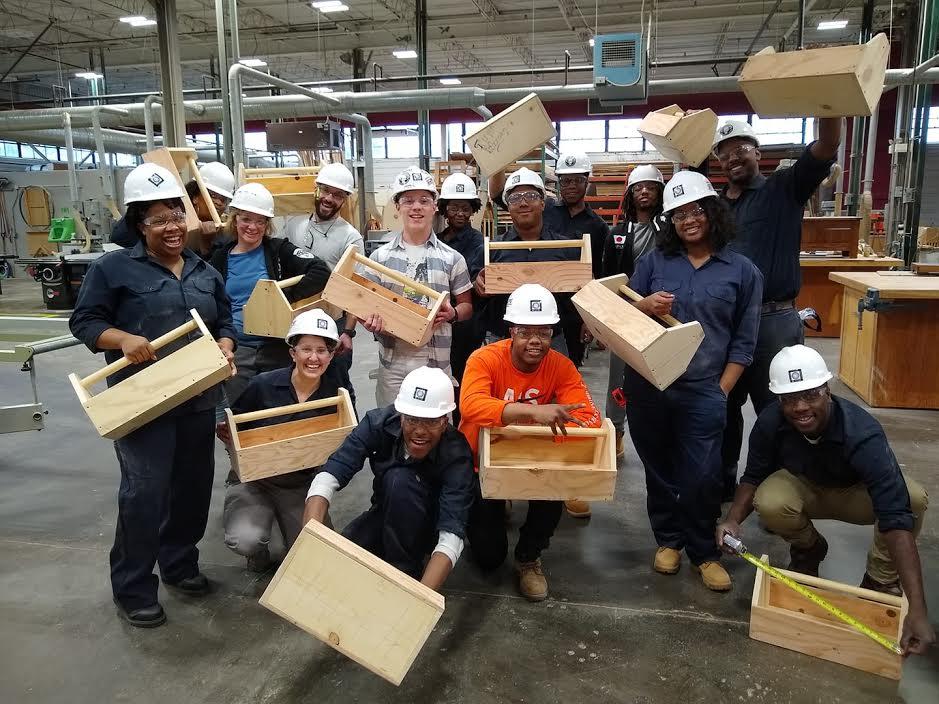 BUD) program Building Union Diversity in wood shop